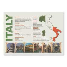 Map Of Italy Paper Placemat