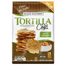 Garlic Hummus Tortilla Chips