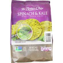 Spinach Kale with Sea Salt Tortilla Chips