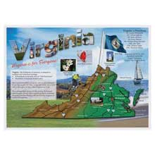 Map Of Virginia Placemat
