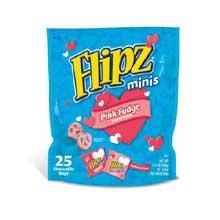 Minis Pink White Fudge Covered Pretzel
