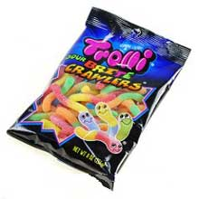 Sour Brite Crawlers and Weird Beards Gummi Candy