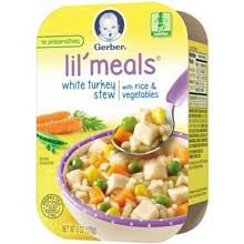 Lil Meals Turkey Stew Rice Veg