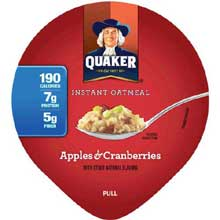 Apple Cranberry Instant Oatmeal Express Cup