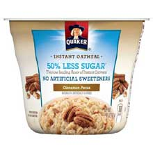 Express Cup Less Sugar Cinnamon Pecan Instant Oatmeal