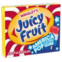 Juicy Fruit America Pop Gum Sticks
