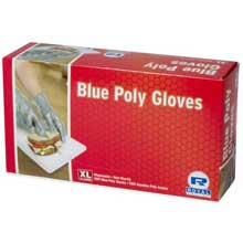Blue Poly Extra Large Gloves