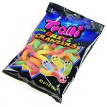 Sour Brite Crawlers and Sour Gummi Crunchers Candy