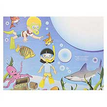 Sea Theme Kids Activity Sheet Stock Design Placemat