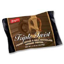 Triple Twist Peanut Butter and Milk Chocolate Covered Pretzel