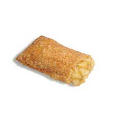 J and J Snack Sweetstuffers Fryable Apple Turnover Bubbly Crust