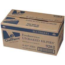 Chef Pierre Unbaked Blueberry Pie 10 inch