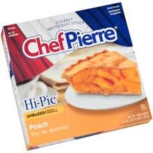 Chef Pierre Unbaked Peach High Pie 10 inch