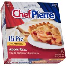 Chef Pierre Unbaked Apple Raspberry Hi Pie 10 inch