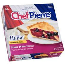 Chef Pierre Unbaked Fruits of the Forest High Pie 10 inch