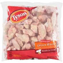 Tyson Individual Quick Frozen Random Chicken Wing 5 Pound