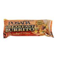 Windsor Posada Egg Sausage and 3 Cheese Burrito 4 Ounce