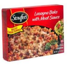 Nestle Stouffers Entree Lasagna Bake with Meat Sauce 11.5 Ounce
