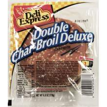 Deli Express Double Charbroil Deluxe Sandwich 6 Ounce