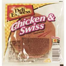 Deli Express Chicken and Swiss Sandwich 4.5 Ounce Mfg 792