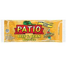 J and J Snack Patio Medium Beef and Beans Burrito 5 Ounce Mfg 4255