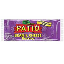 J and J Snack Patio Beans and Cheese Burrito 5 Ounce