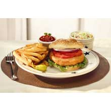 Trident Seafoods Alaska Salmon Burger - 50 of 3.2 Ounce Pieces 10 Pound