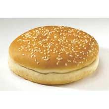 Flowers Foods European Bakers Sliced Sesame Hamburger Bun 5 inch