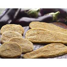 Traditional Breaded Eggplant Cutlet 10 Pound Naples Long Cut Peeled
