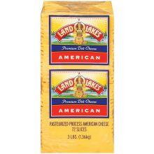 Land O Lakes American Yellow Deli Process Cheese Slice 3 Pound