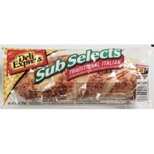 Deli Express Italian Sub Selects Traditional Sandwich 5.1 Ounce Mfg 888