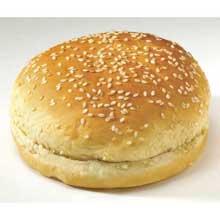 Flowers Foods European Bakers Sliced Sesame White Hamburger Bun 4.5 inch
