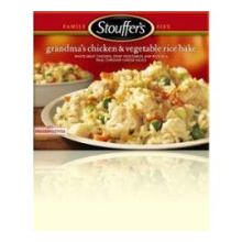 Nestle Stouffers Red Box Family Style Recipes Grandmas Chicken with Vegetable Rice Bake - Entree 36 Ounce