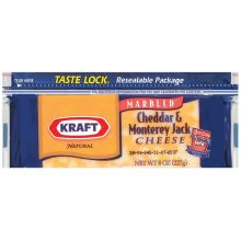Natural Cheddar and Monterey Jack Chunk Cheese 8 Ounce
