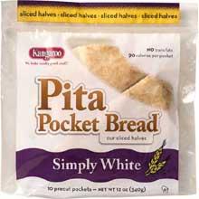 Kangaroo White Pita Pocket Bread 12 Ounce