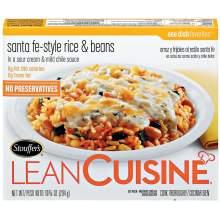 Nestle Stouffers Lean Cuisine Entree Santa Fe Style Rice and Beans 10 Ounce