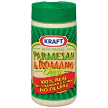 Kraft Grated Parmesan and Romano Cheese 8 Ounce