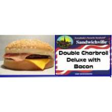 Pride of Iowa Supreme Double Charbroil Deluxe with Bacon Sandwich 5.25 Ounce