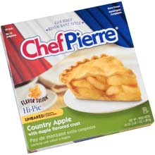 Chef Pierre Flavor Fusion Country Apple with Maple Crust Pie 10 inch