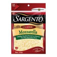 Sargento Classic Chef Style Shredded Mozzarella Cheese 8 Ounce