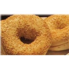 Burry Foodservice Thaw and Sell Sliced Sesame Seed Bagel 4 Ounce