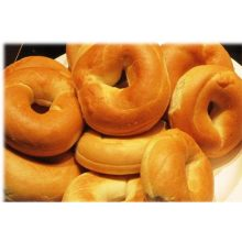 Burry Foodservice Thaw and Sell Sliced Plain Bagel 1 Ounce