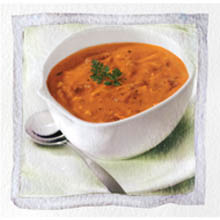 Stockpot Roasted Red Bell Pepper and Smoked Gouda Bisque