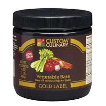 Custom Culinary Gold Label Vegetable Base 20 Pound