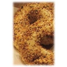 Burry Foodservice Thaw and Sell Everything Premium Sliced Bagel 4 Ounce