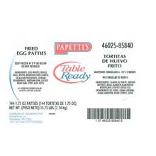 Michael Foods Papettis Puffed Fried Egg Patty 1.75 Ounce