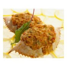 New Wave Kaptains Ketch Chesapeake Street Stuffed Crab in Natural Shell 3 Ounce