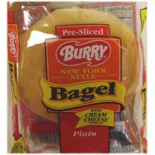 Burry Foodservice Thaw and Sell Sliced Plain Bagel 4.67 Ounce