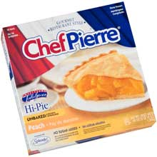 Chef Pierre Peach High Pie 44 Ounce
