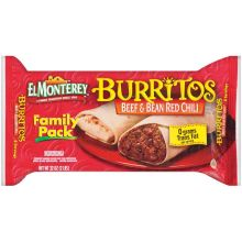 Ruiz Foodservice El Monterey Beef and Bean Red Chili Burrito 32 Ounce 8 per pack